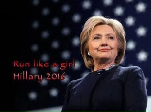 Hilary run like a girl